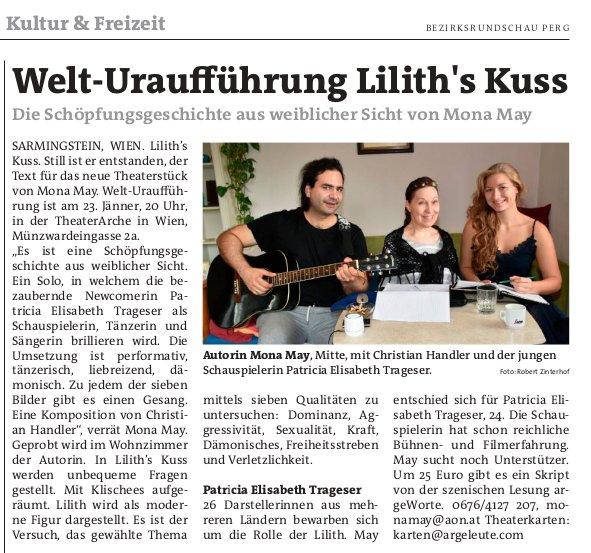 Lilith's Kuss in Bezirksrundschau Perg