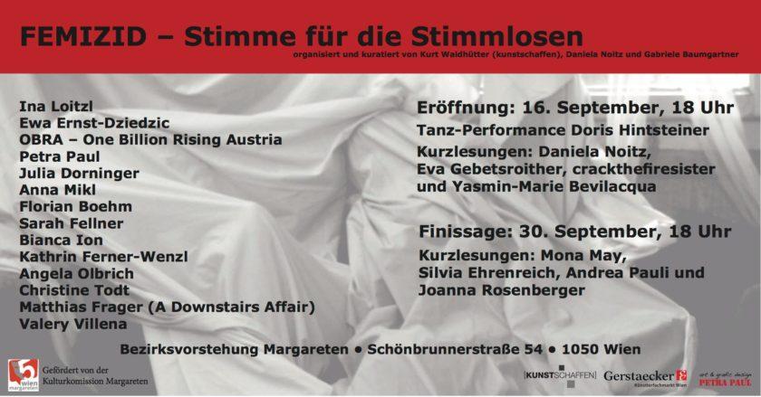 Ankündigung der Ausstellung FEMIZID